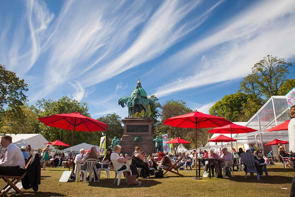 The book festival in Charlotte Square Edinburg