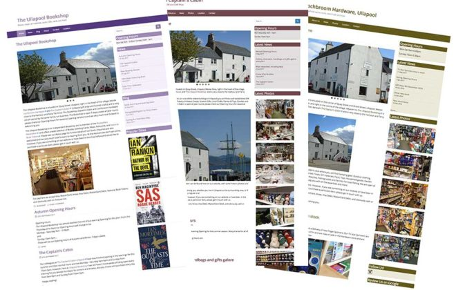 Ullapool shop websites