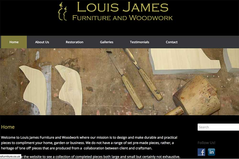 Louis James Furniture website