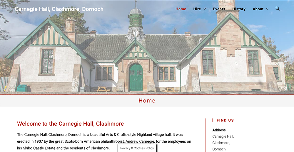 Carnegie Hall, Clashmore, Dornoch