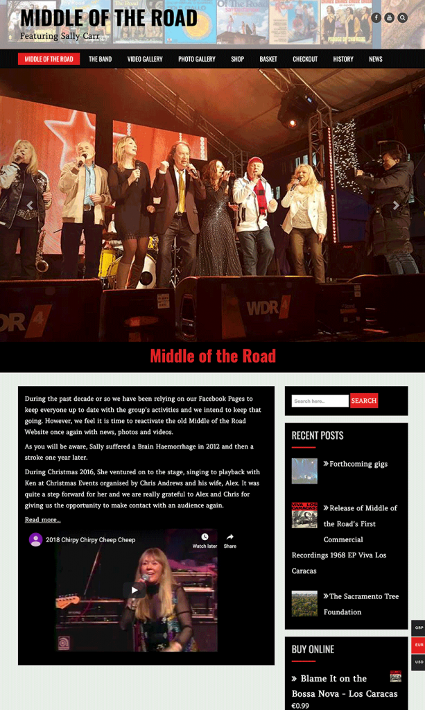 Middle of the Road website