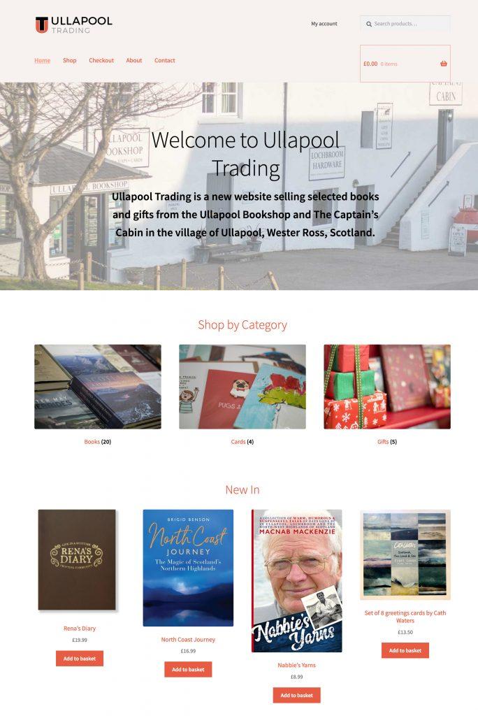 Ullapool Trading website