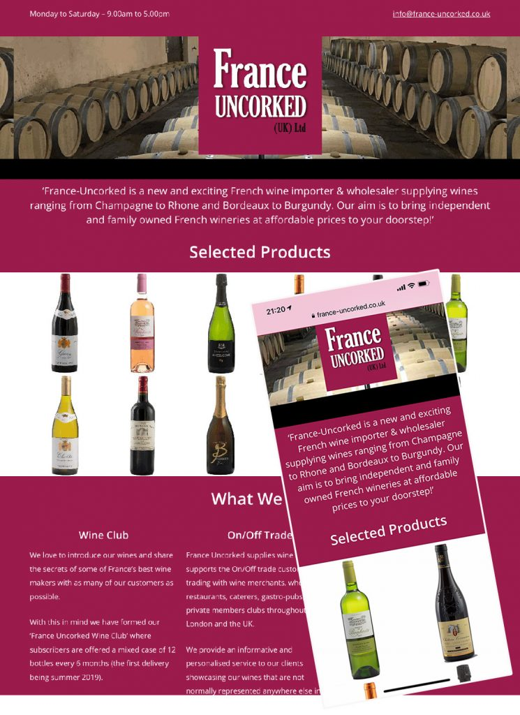 France Uncorked holding page