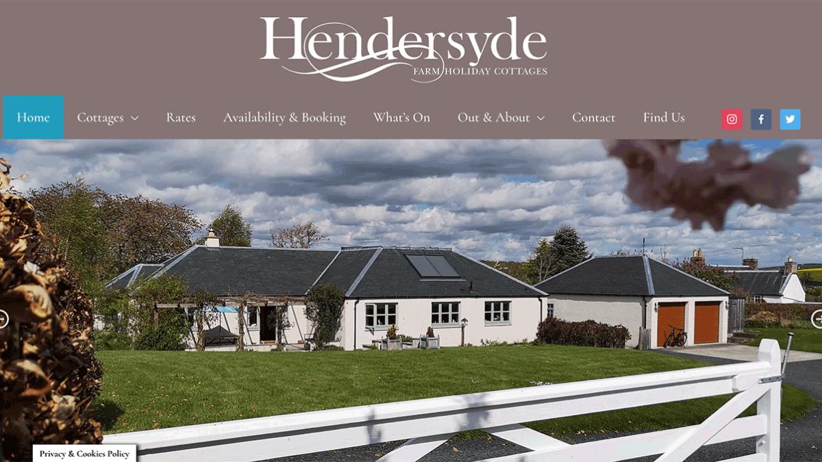 Website for Hendersyde near Kelso