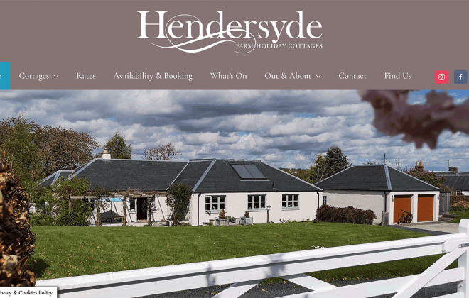 Website for Hendersyde near Kelso