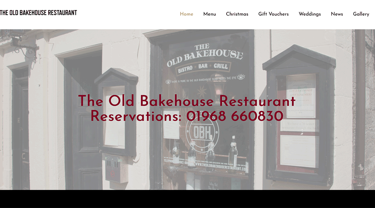 Old Bakehouse Restaurant West Linton