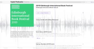 Edinburgh International Book Festival podcasts 2019