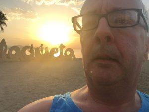 Running at Malagueta Beach