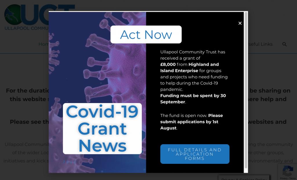 Covid-19 Local Grant funding