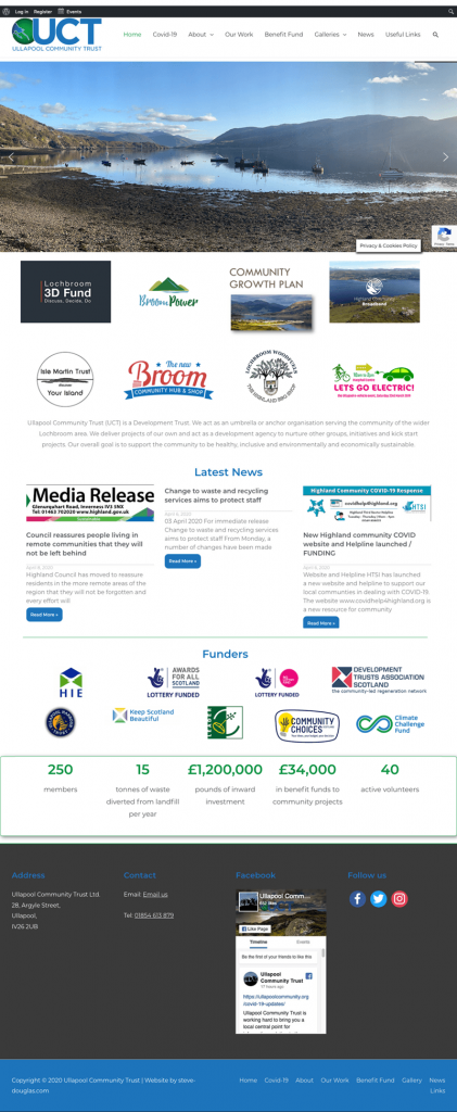 Ullapool Community Trust website