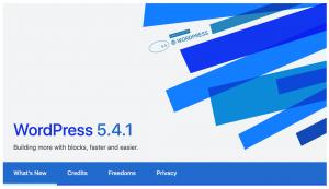 WordPress 5.4.1 update