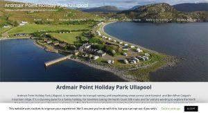 Ardmair Holiday Park website