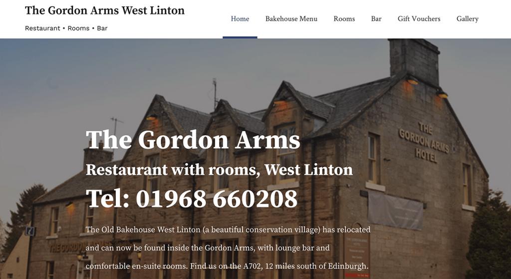 The Gordon Arms new website