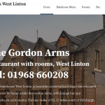 The Gordon Arms new website